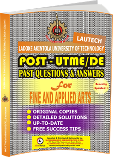 LAUTECH Post UTME Past Questions for FINE AND APPLIED ARTS
