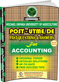 MOUAU Post UTME Past Question For Accounting