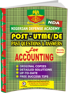 NDA Past UTME Questions for ACCOUNTING