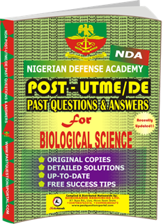 NDA Past UTME Questions for BIOLOGICAL SCIENCE