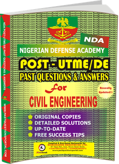 NDA Past UTME Questions for CIVIL ENGINEERING