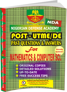 NDA Past UTME Questions for MATHEMATICS COMPUTER SCIENCE