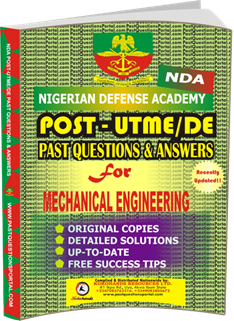 NDA Past UTME Questions for MECHANICAL ENGINEERING