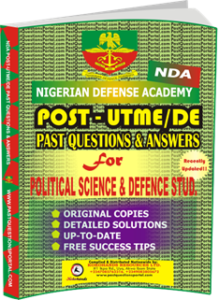 NDA Past UTME Questions for POLITICAL SCIENCE DEFENCE STUD