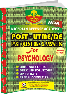 NDA Past UTME Questions for PSYCHOLOGY