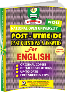 NOU Post UTME Past Questions for ENGLISH
