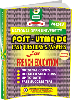 NOU Post UTME Past Questions for FRENCH EDUCATION