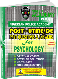 NPA Post UTME Past Questions for PSYCHOLOGY