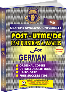 OAU Post UTME Past Questions for GERMAN