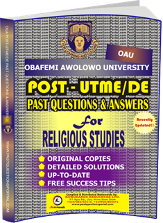 OAU Post UTME Past Questions for RELIGIOUS STUDIES