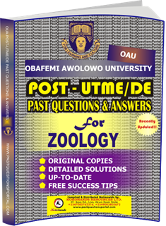 OAU Post UTME Past Questions for ZOOLOGY