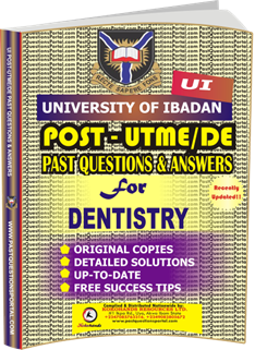 UI Post UTME Past Questions for DENTISTRY