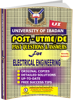 UI Post UTME Past Questions for ELECTRICAL ENGINEERING