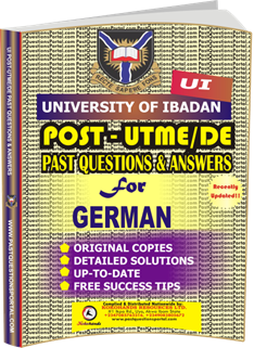 UI Post UTME Past Questions for GERMAN