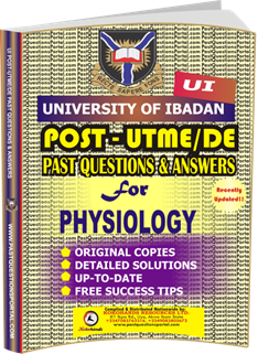 UI Post UTME Past Questions for PHYSIOLOGY