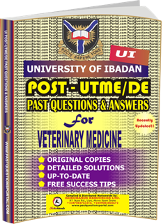 UI Post UTME Past Questions for VETERINARY MEDICINE
