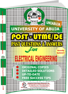 UNIABUJA Post UTME Past Questions for ELECTRICAL ENGINEERING