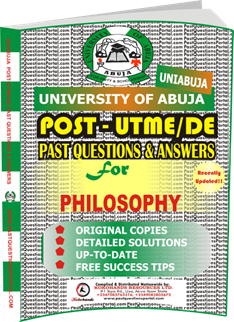 UNIABUJA Post UTME Past Questions for PHILOSOPHY