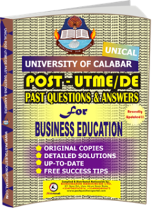 UNICAL Past UTME Questions for BUSINESS EDUCATION
