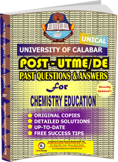 UNICAL Past UTME Questions for CHEMISTRY EDUCATION
