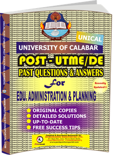 UNICAL Past UTME Questions for EDU. & ADMINISTRATION PLANNING