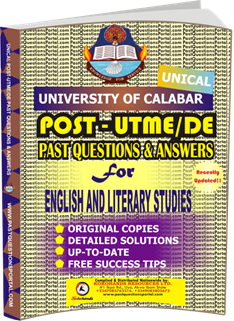 UNICAL Past UTME Questions for ENGLISH AND LITERARY STUDIES