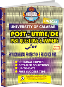 UNICAL Past UTME Questions for ENVIRONMENTAL PROTECTION RESOURCE MANAGMENT