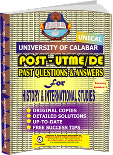 UNICAL Past UTME Questions for HISTORY INTERNATIONAL STUDIES