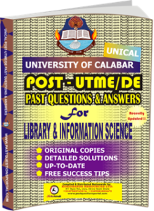 UNICAL Past UTME Questions for LIBRARY INFORMATION SCIENCE