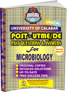 UNICAL Past UTME Questions for MICROBIOLOGY