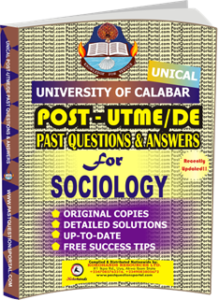 UNICAL Past UTME Questions for SOCIOLOGY