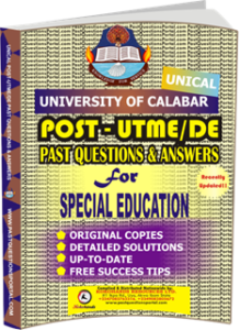 UNICAL Past UTME Questions for SPECIAL EDUCATION