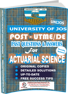 UNIJOS Past UTME Questions for ACTUARIAL SCIENCE