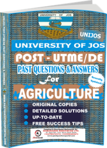 UNIJOS Past UTME Questions for AGRICULTURE
