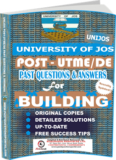 UNIJOS Past UTME Questions for BUILDING
