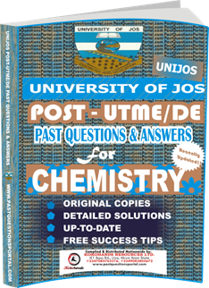 UNIJOS Past UTME Questions for CHEMISTRY