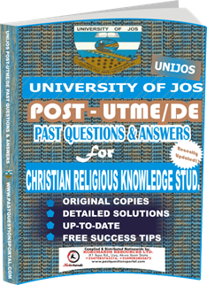 UNIJOS Past UTME Questions for CHRISTIAN RELIGIOUS KNOWLEDGE STUD