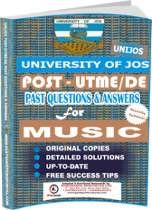 UNIJOS Past UTME Questions for MUSIC