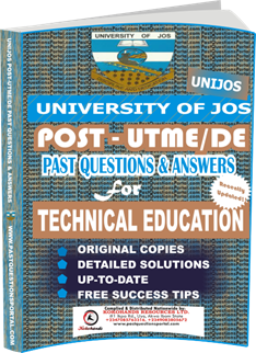 UNIJOS Past UTME Questions for TECHNICAL EDUCATION