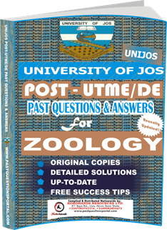UNIJOS Past UTME Questions for ZOOLOGY