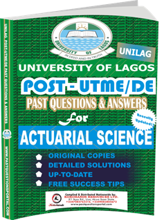 UNILAG Past UTME Questions for ACTUARIAL SCIENCE