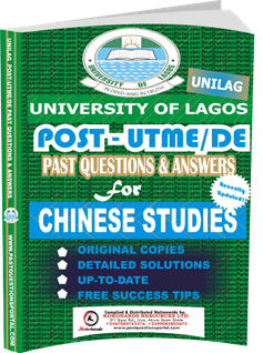 UNILAG Past UTME Questions for CHINESE STUDIES