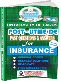 UNILAG Past UTME Questions for INSURANCE