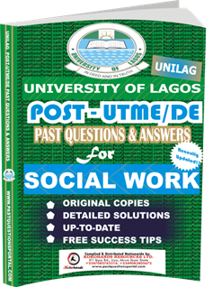 UNILAG Past UTME Questions for SOCIAL WORK