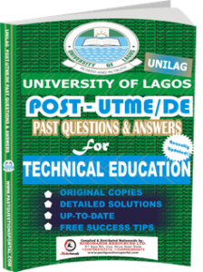 UNILAG Past UTME Questions for TECHNICAL EDUCATION