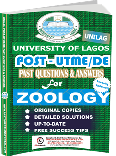 UNILAG Past UTME Questions for ZOOLOGY