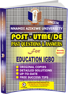 UNIZIK Past UTME Questions for EDUCATION IGBO