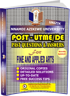 UNIZIK Past UTME Questions for FINE AND APPLIED ARTS