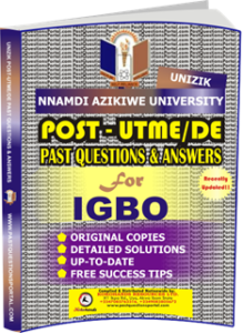 UNIZIK Past UTME Questions for IGBO