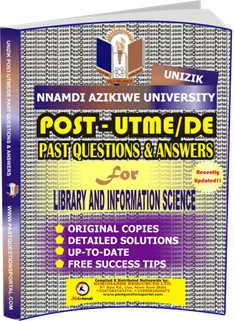 UNIZIK Past UTME Questions for LIBRARY AND INFORMATION SCIENCE